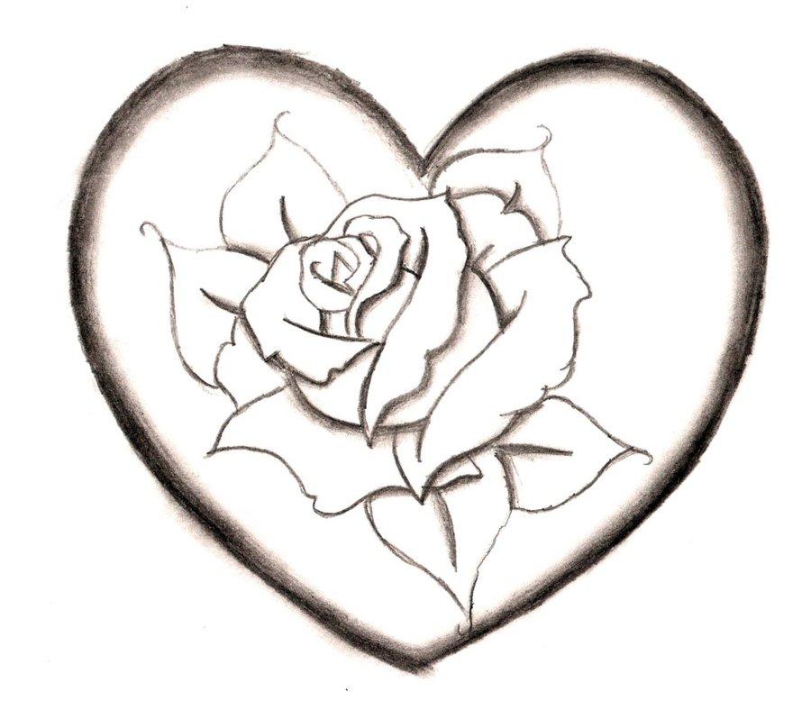 Красивые картинки для срисовки сердечко