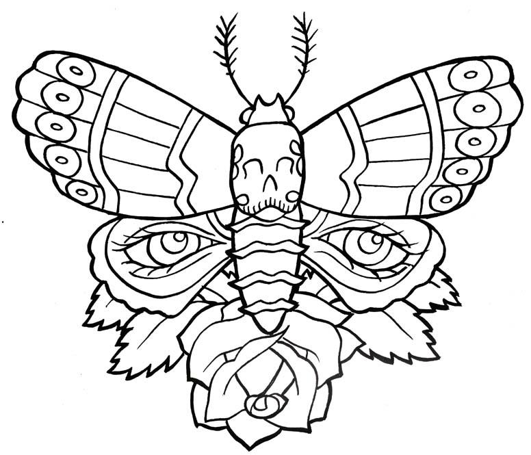 Butterfly Tattoo Outline Eyecatchingtattoos Clip Art Library