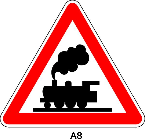railroad crossing sign | free download clip art | free clip art