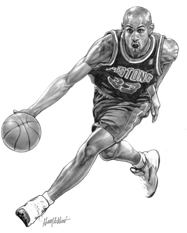 Рисунки про баскетбол карандашом