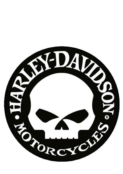 √ Harley Davidson Skull Logo Vector