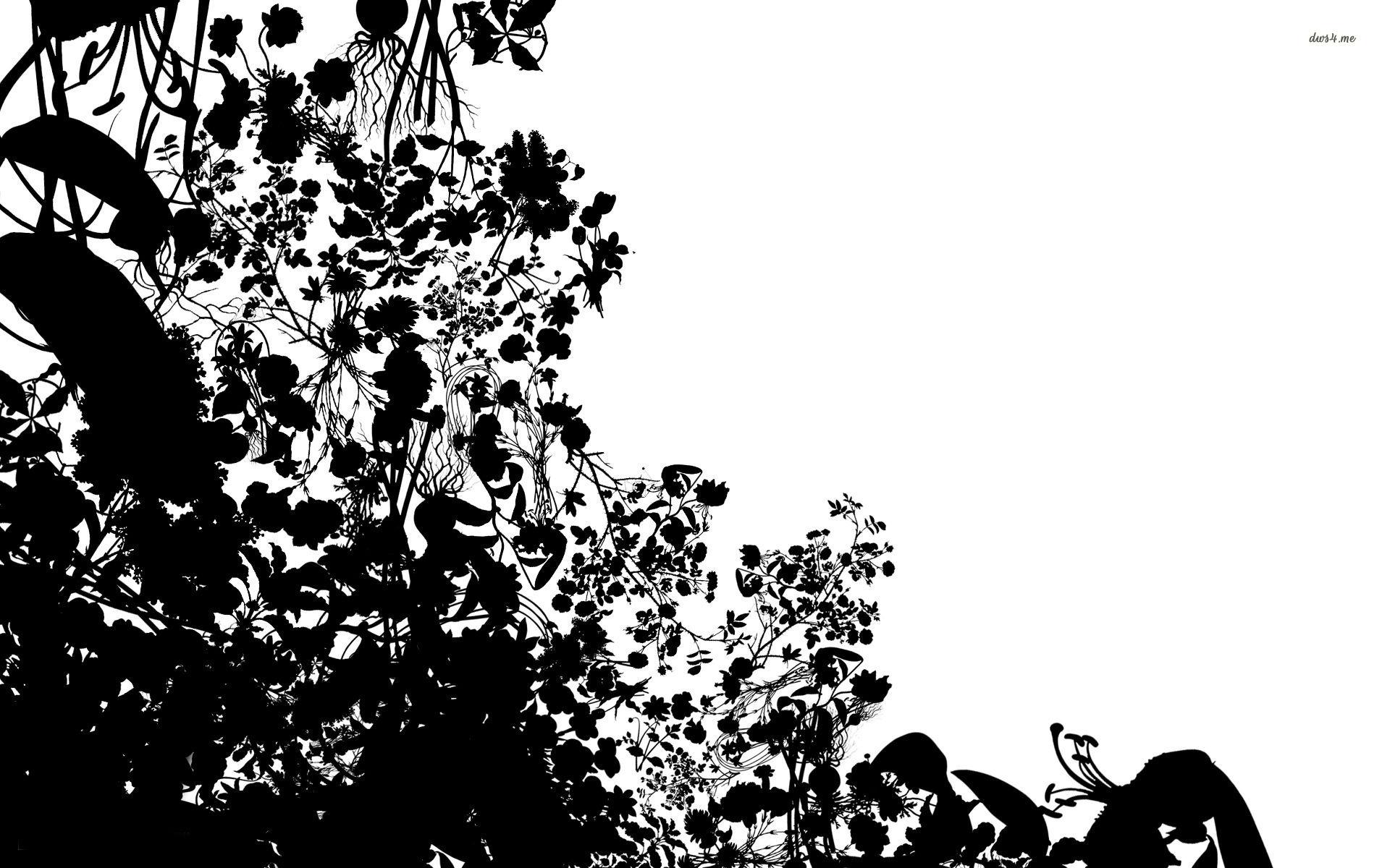 Flower Silhouette Wallpaper Vector Wallpapers 1805 Clip Art
