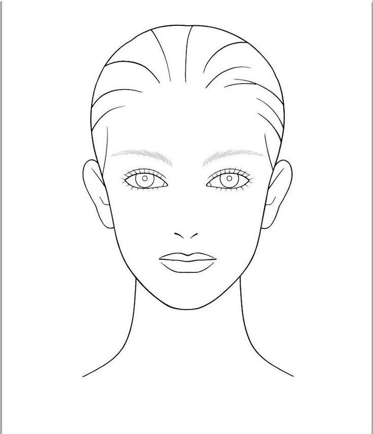 Makeup Face Templates Saubhaya Makeup