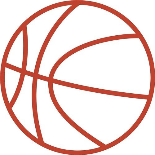 basketball outline vector - clipart library - clip art library