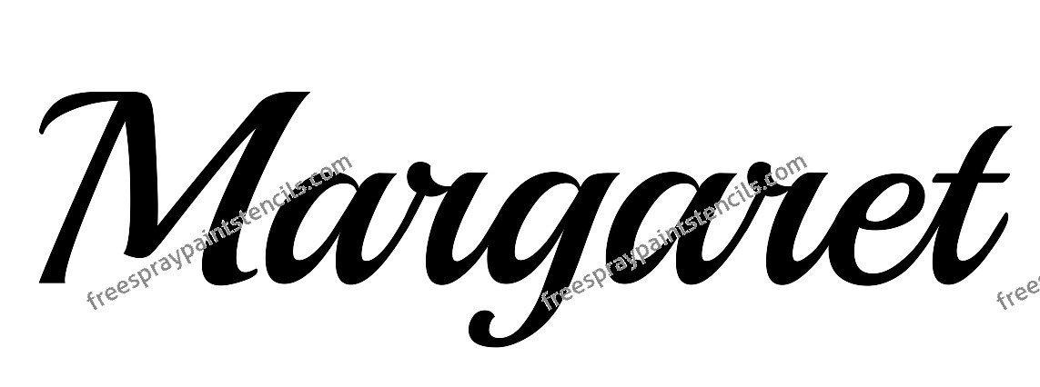 Margaret Name Design Spray Painting Stencil Free Spray Paint