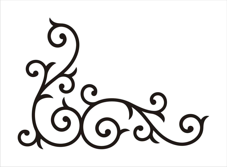 free simple corner border design  download free clip art