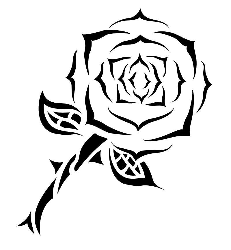 Free Long Stem Rose Tattoo Download