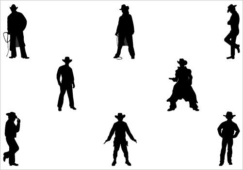 cowboy silhouette vector | free download clip art | free clip art