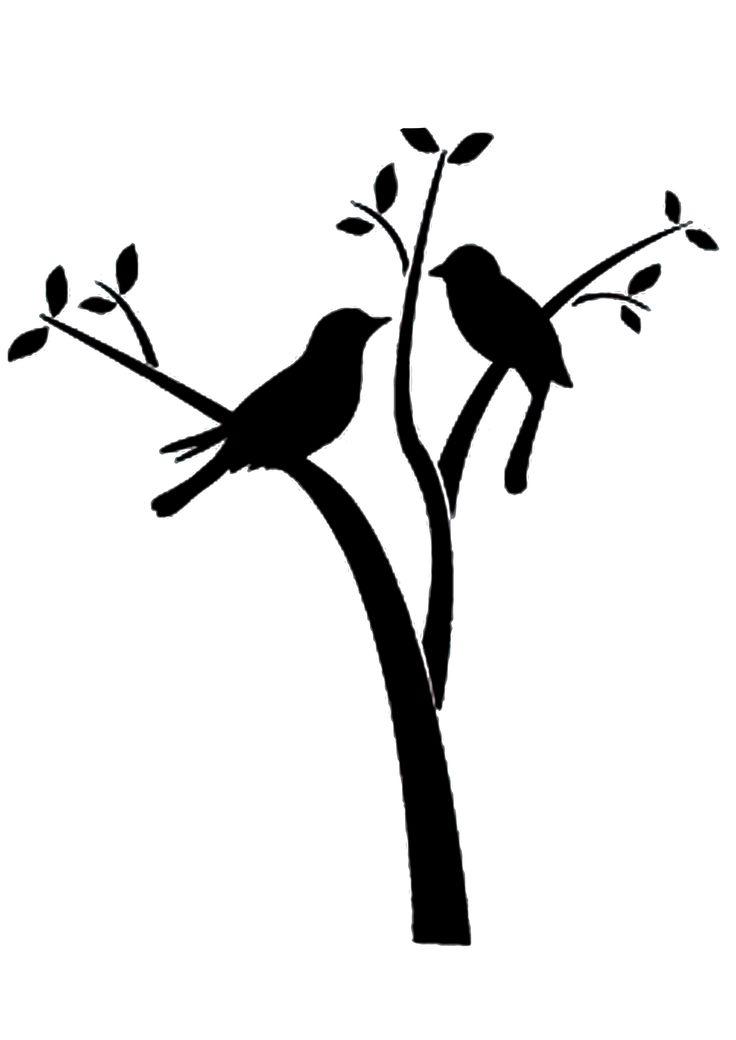Bird On Branch Stencil For Vase