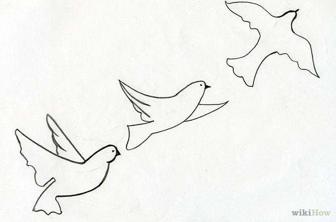 Free Flying Bird Drawing, Download Free Clip Art, Free