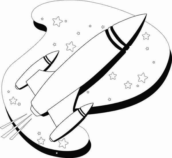 Free Rocket Ship Drawing Download