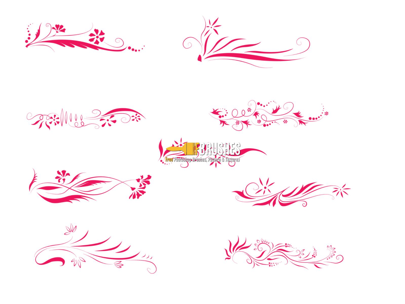floral border lines - brushes