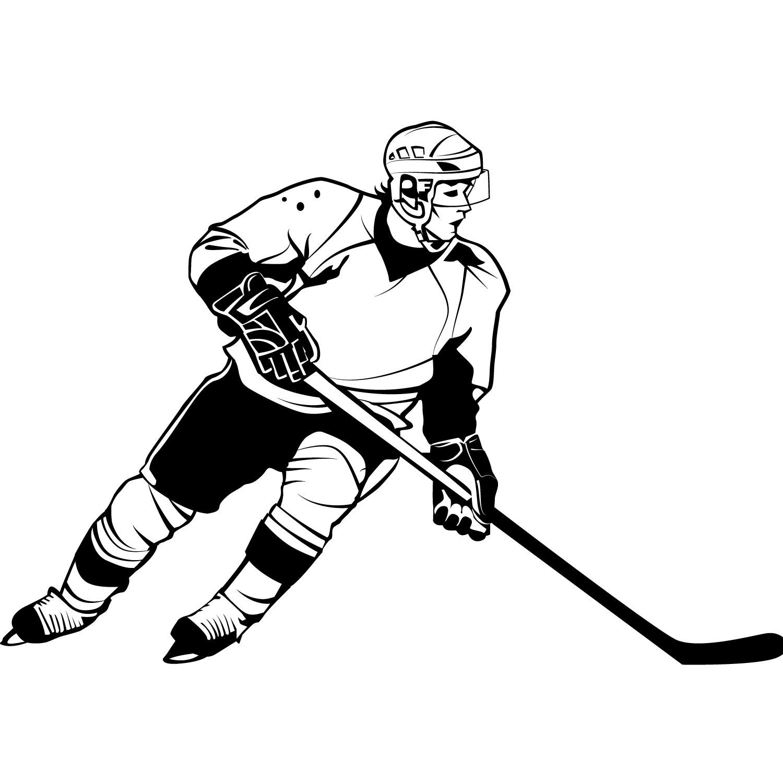 Ice Hockey Player Clipart
