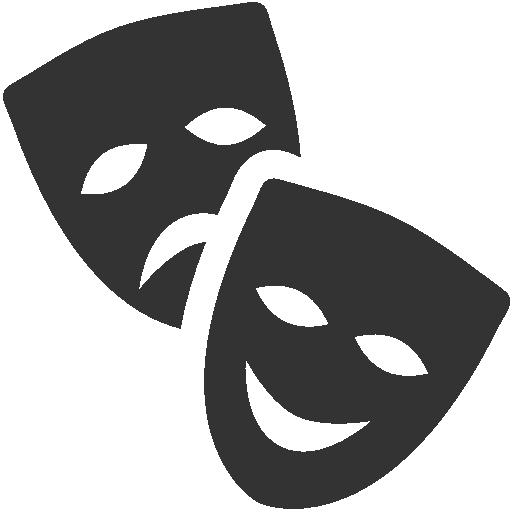 √ Drama Masks Vector