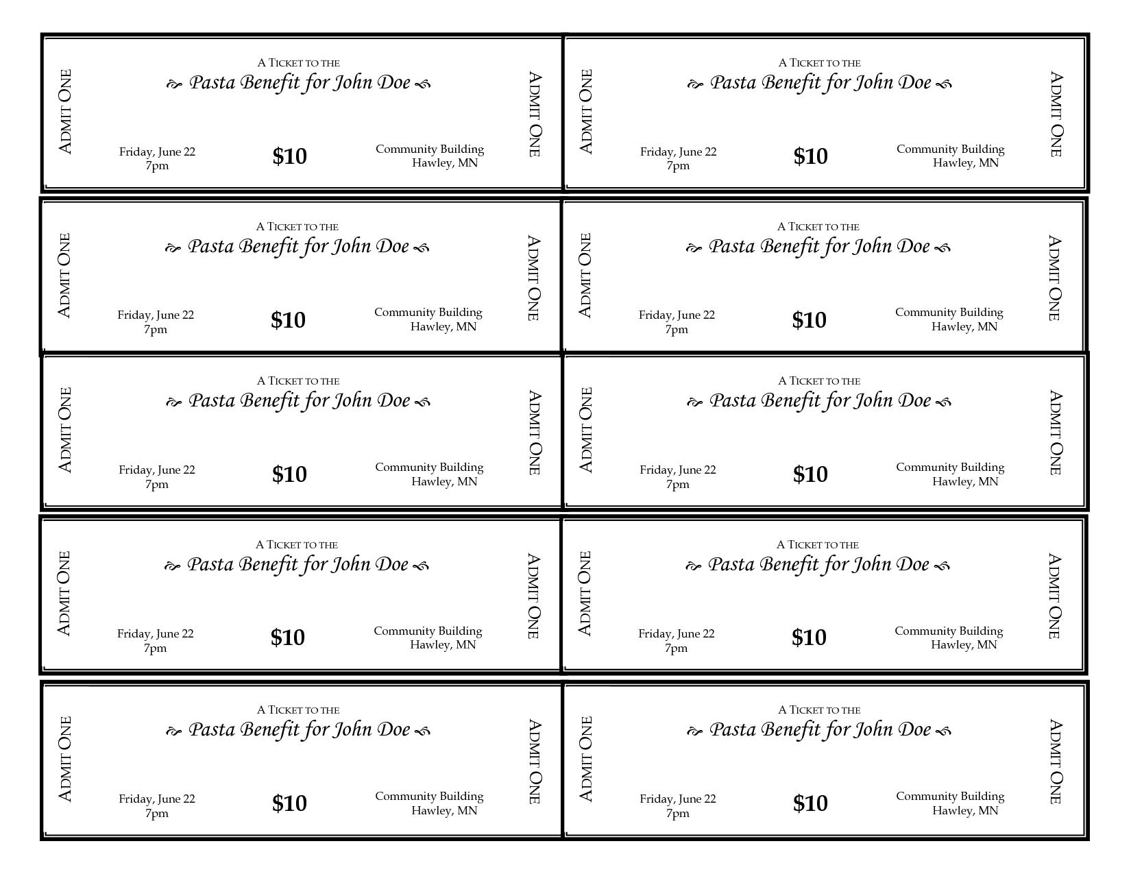 It is an image of Free Printable Raffle Ticket Template regarding word