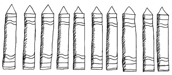 Design For A Preschool Classroom ~ Free crayon template download clip art