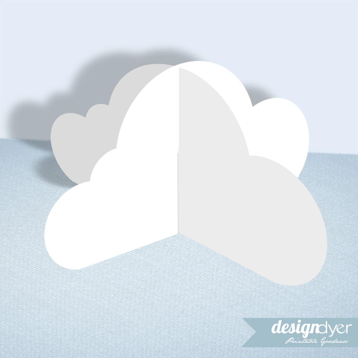 3D Cloud Printable Decoration Template