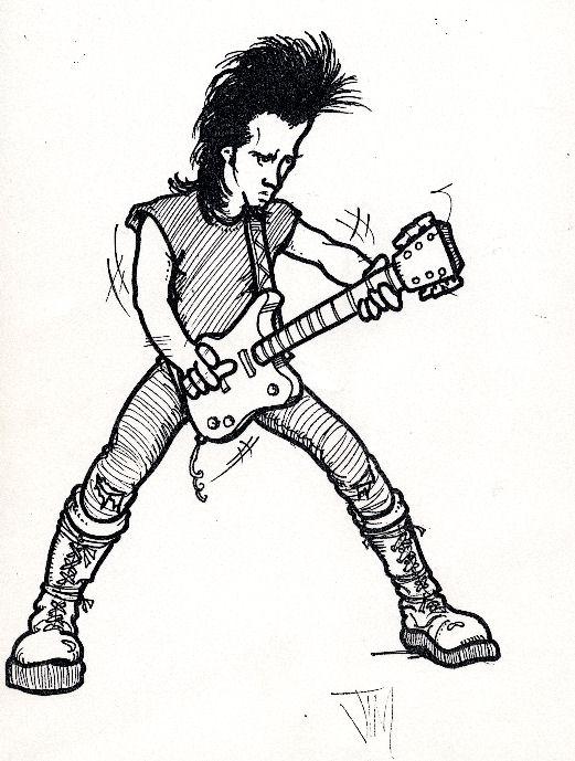 девушки картинки гитарист рисунок подружилась майей