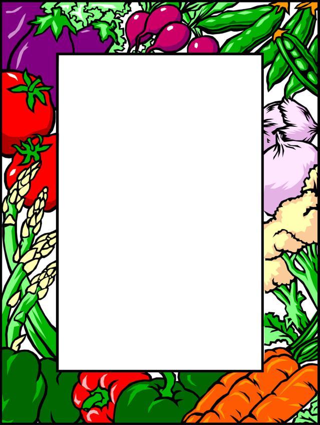 vegetable border clip art images pictures
