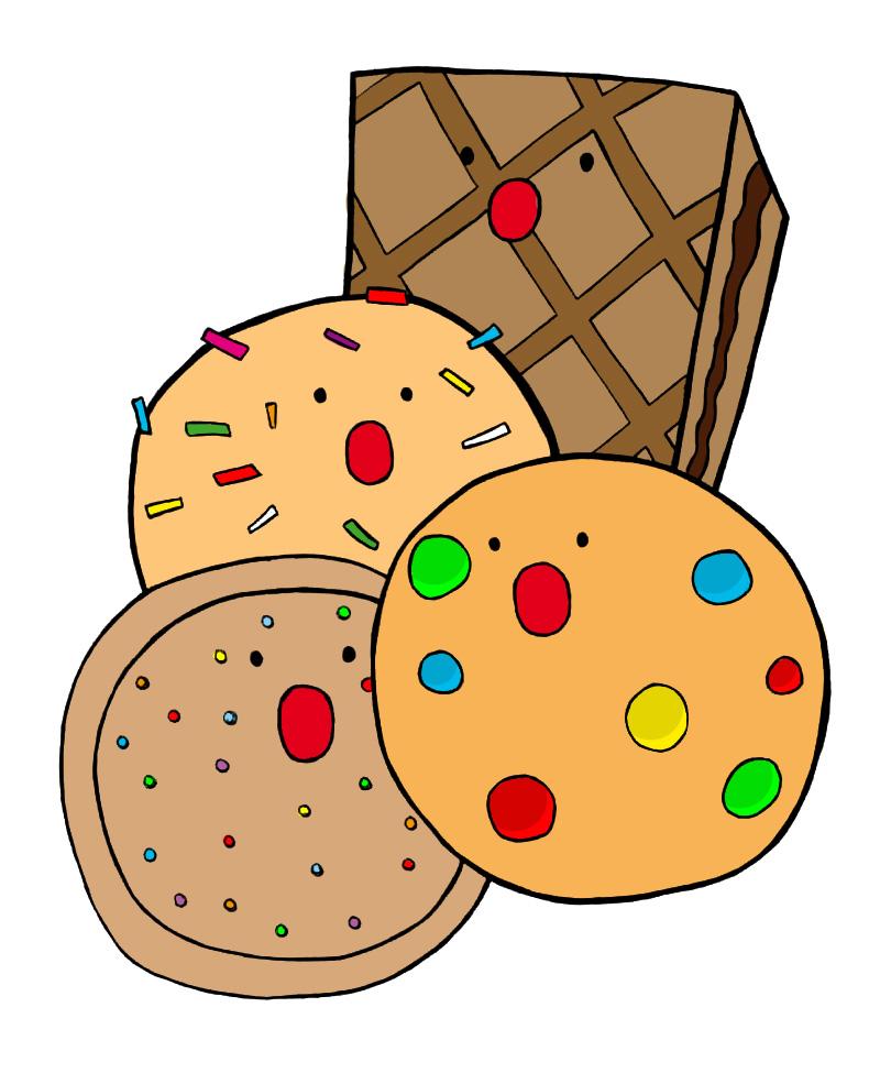Картинки печенек нарисованных