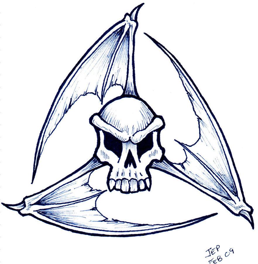 Free Simple Skull Tatt...