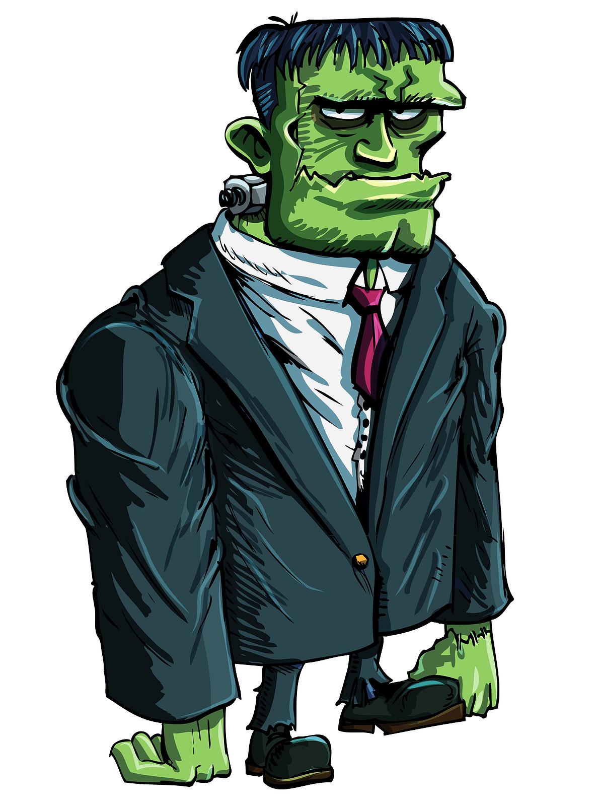 Frankenstein Cartoon Face