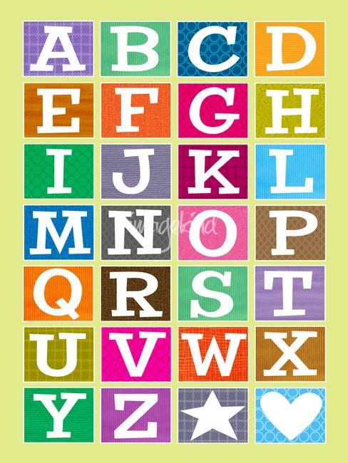 Abc Alphabet Poster By Karyn Lewis