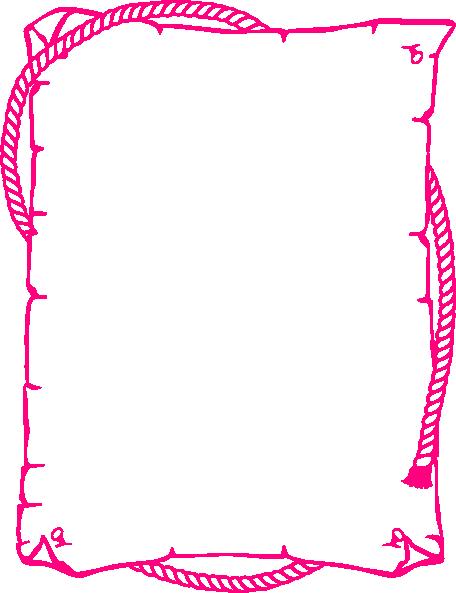 pink western border clip art