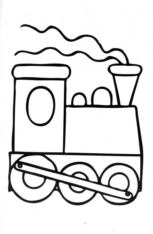 Easy Cartoon Train Drawing Clip Art Library