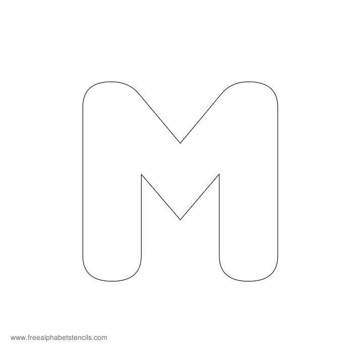 Letter M Outline Free Download Clip Art Free Clip Art
