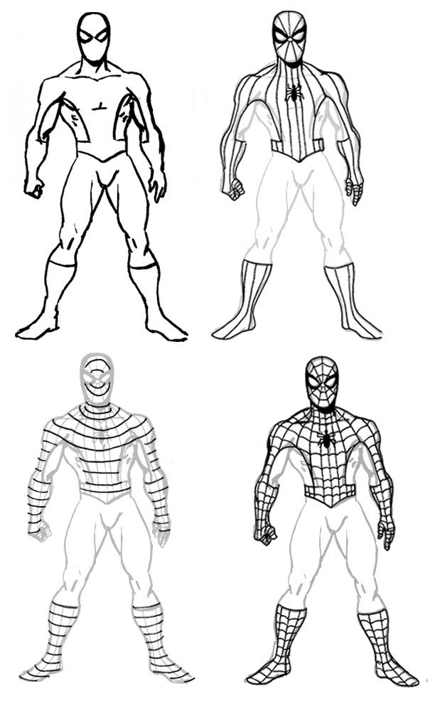 что картинки супергерои карандашом поэтапно своем