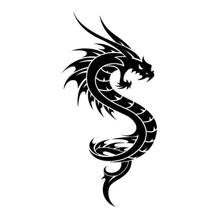 Free Dragon Drawings Black And