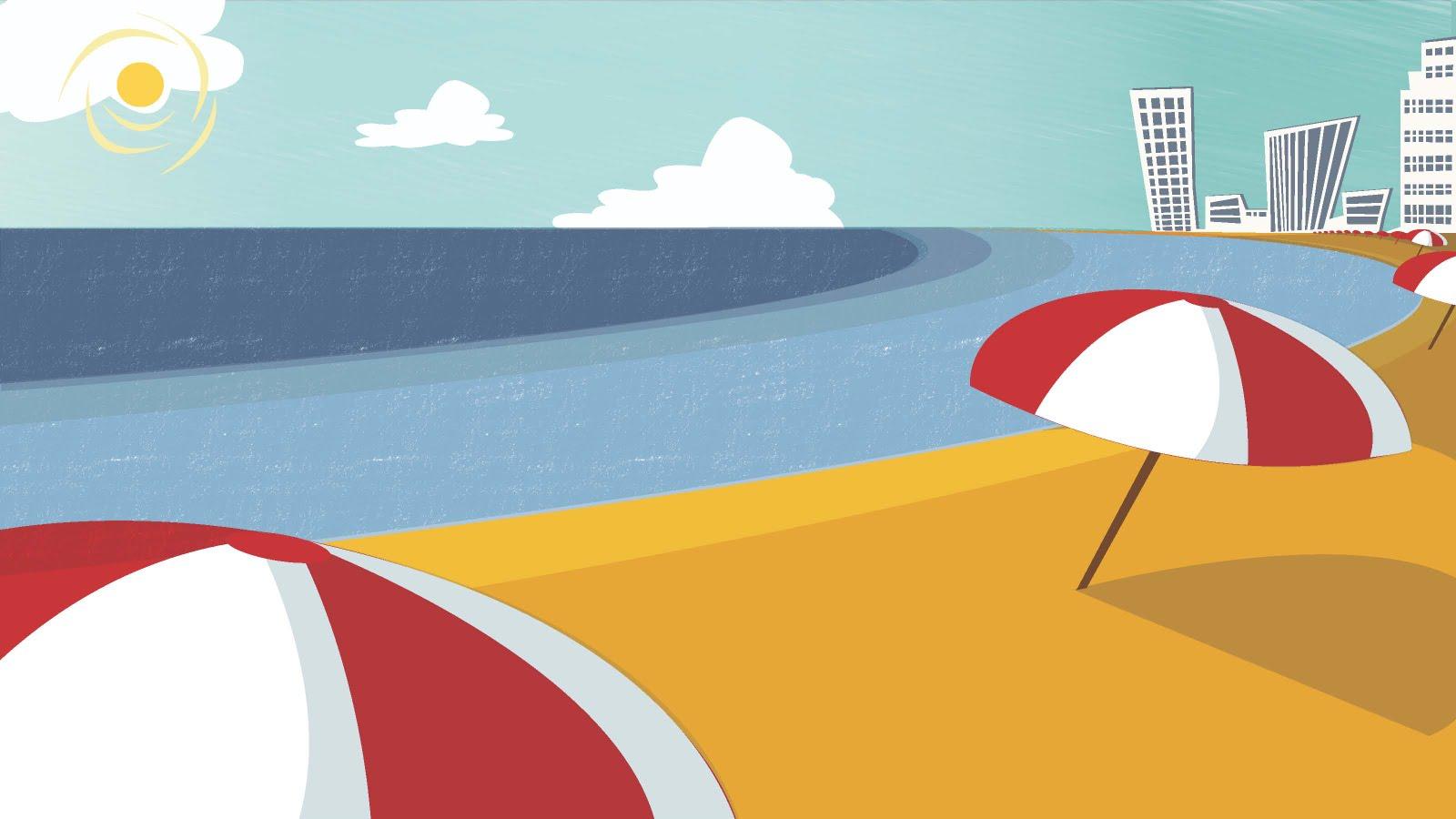 Free Cartoon Beach Scene Download