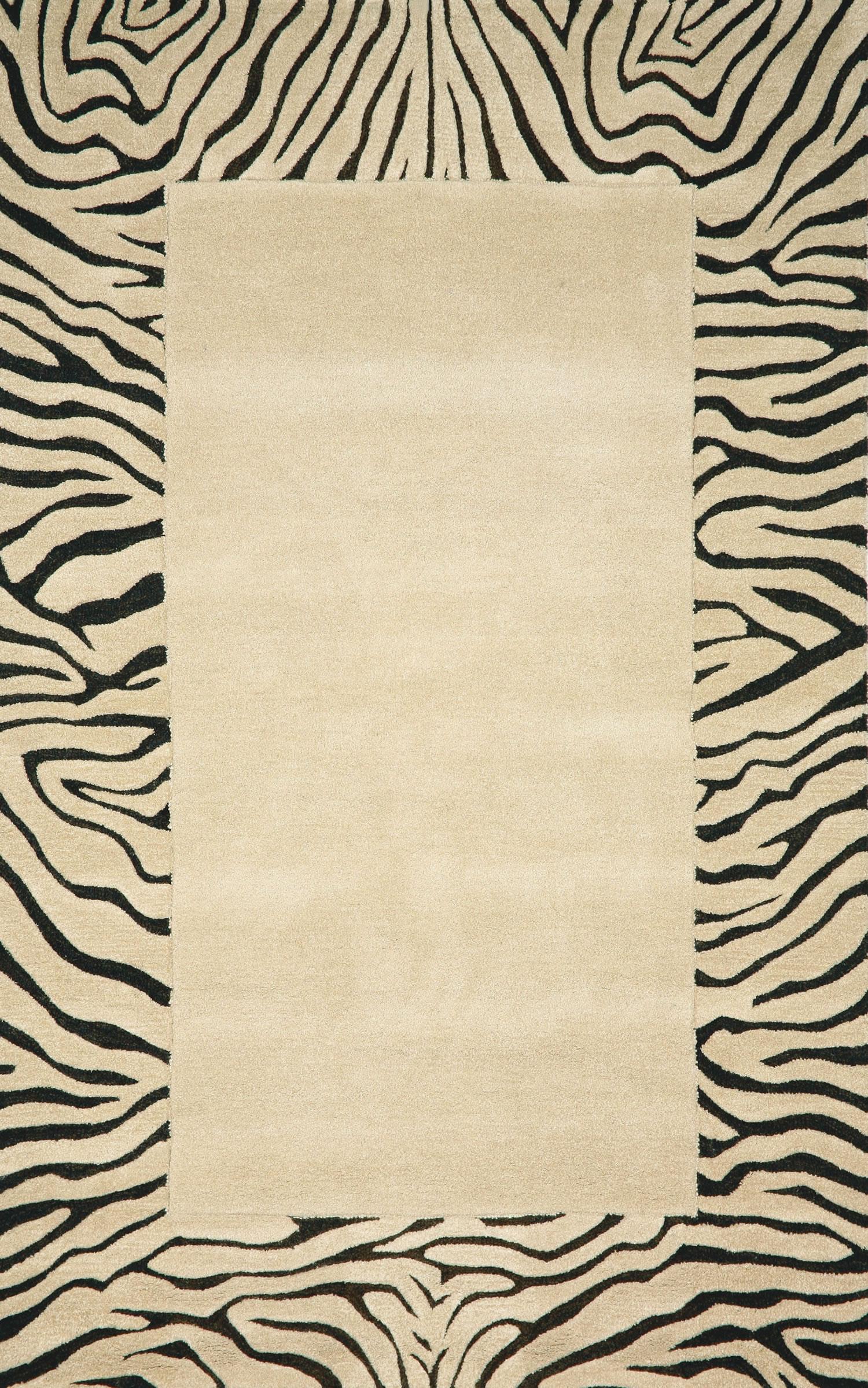 Trans Ocean Seville Zebra Border Rug Plushrugs Com