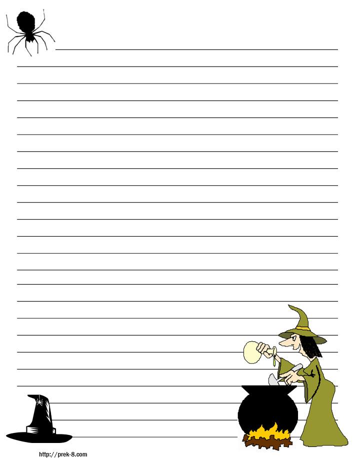 Printable Primary Writing Paper Halloween