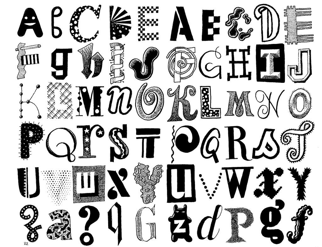 Cool Alphabet Letter Designs Free Download Clip Art