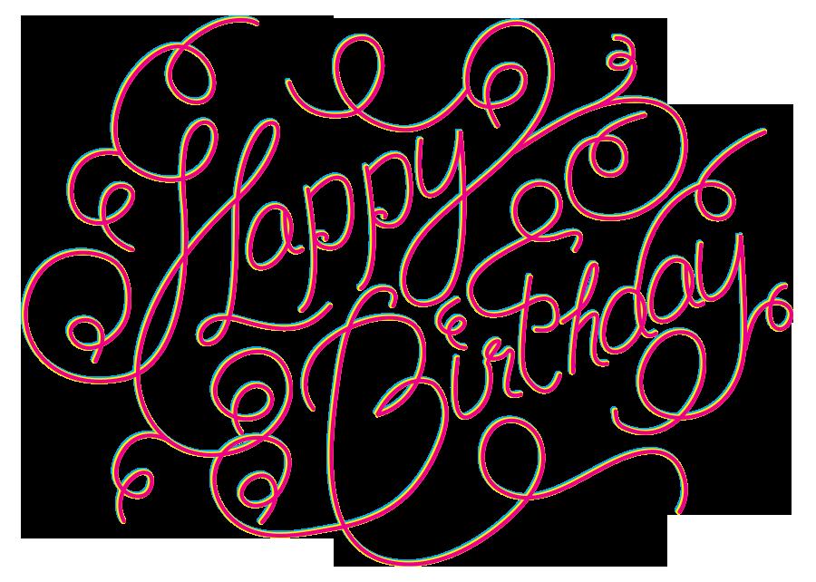 Happy Birthday Cake Font