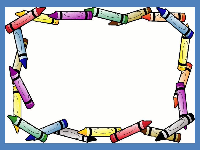 Crayon Border Powerpoint Background