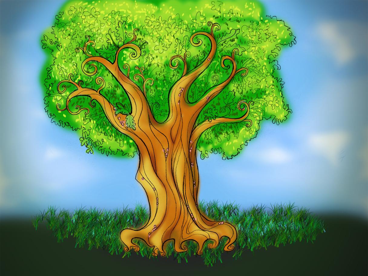 загримированный дерево древо в картинках школа