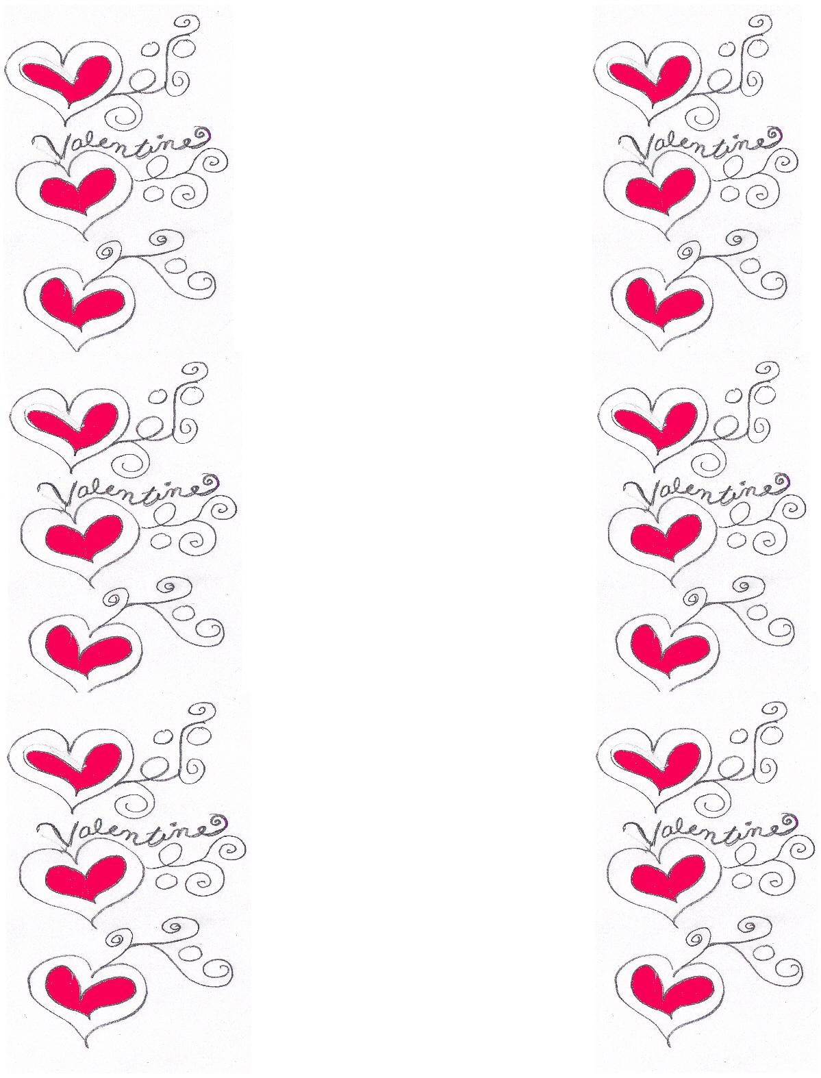 77 Free Printable Valentine Stationery Borders Design Corral