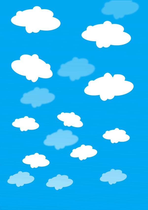 Clouds In Blue Sky Vector Clip Art