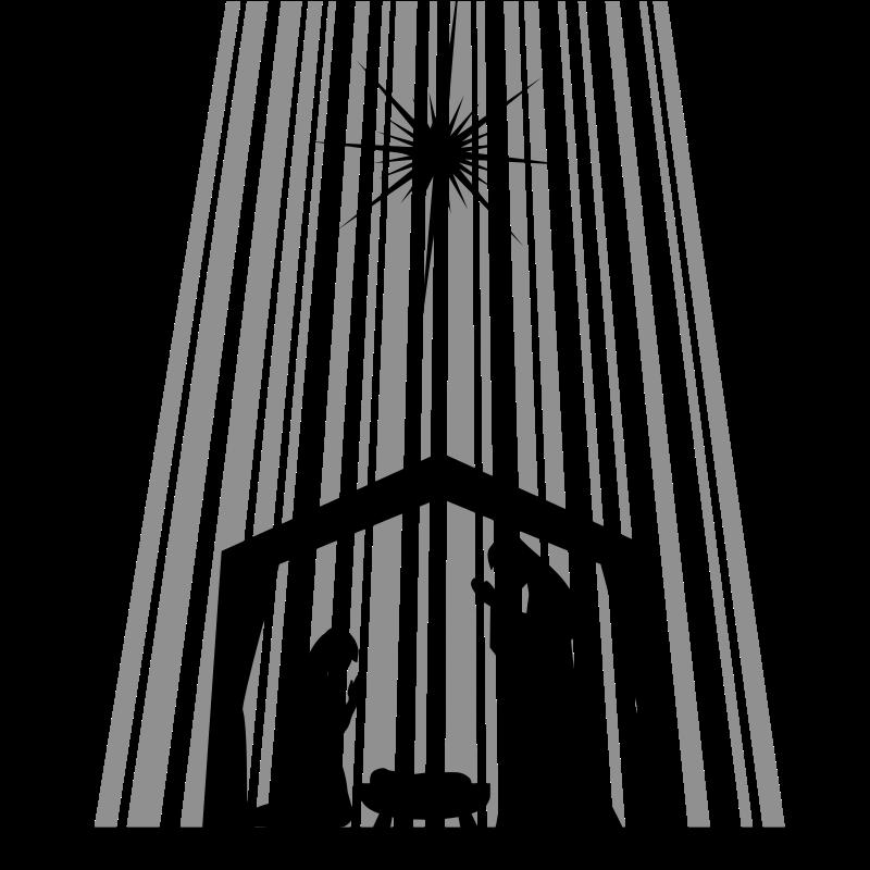 Free Nativity Scene Clipart Silhouette, Download Free Clip ...