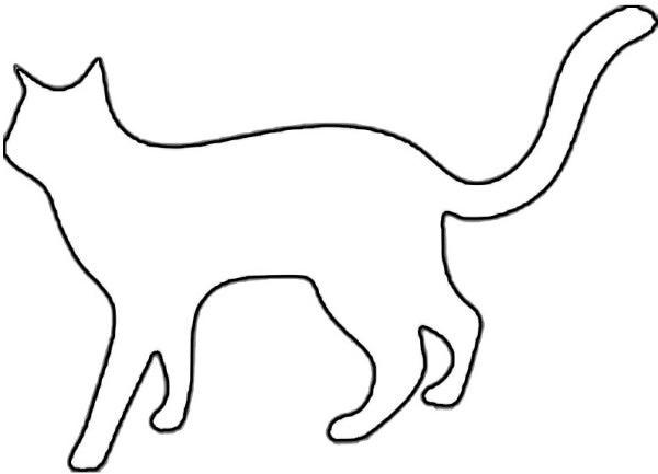 cat silhouette outline | free download clip art | free clip art