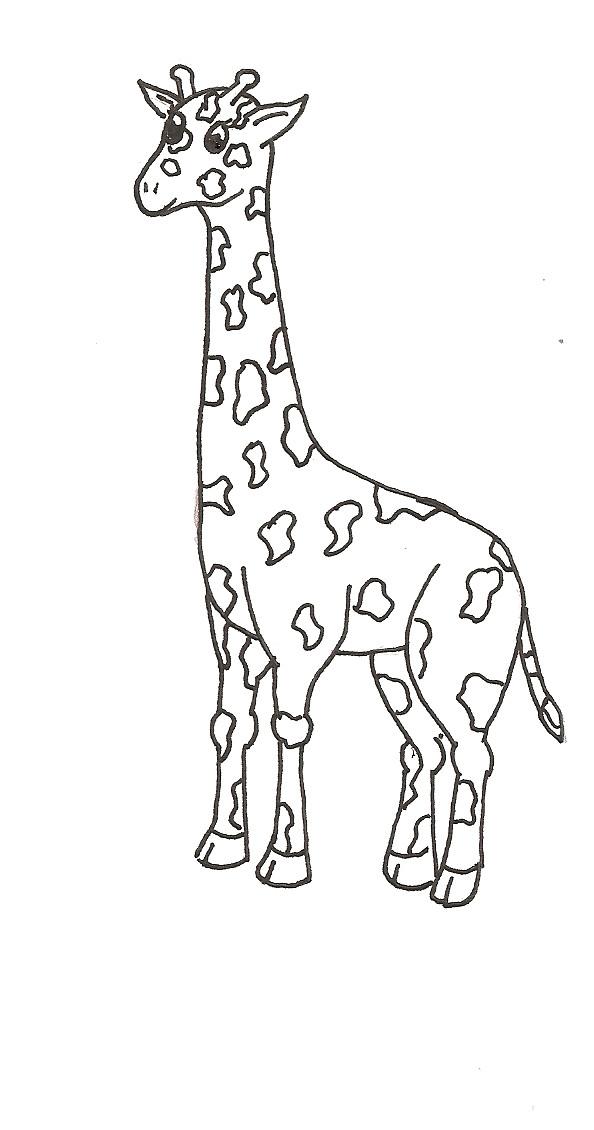 жираф картинка простая розы, сохранив