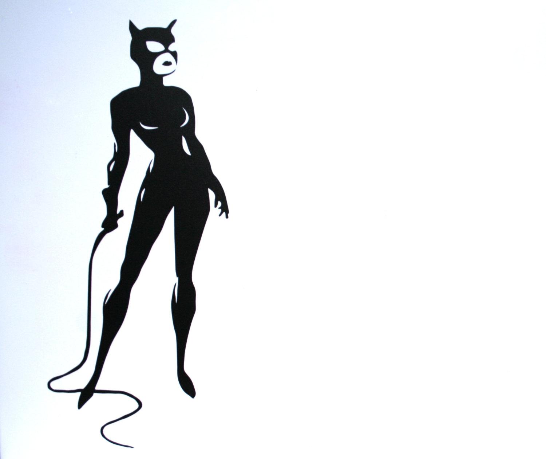 8 Catwoman Silhouette Selina Kyle Batman Vinyl Logo By