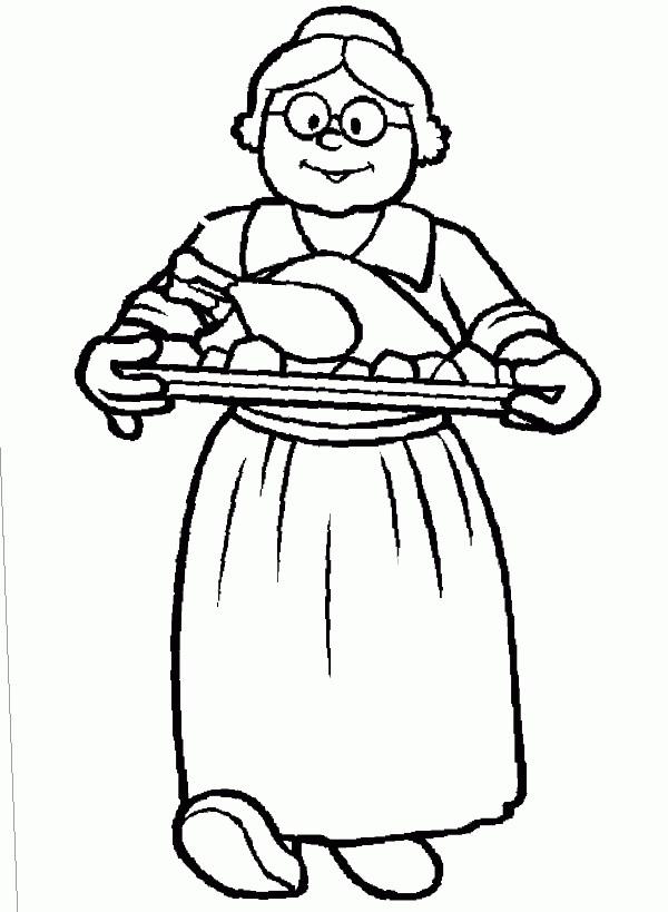 grandma coloring pages printable - photo#22