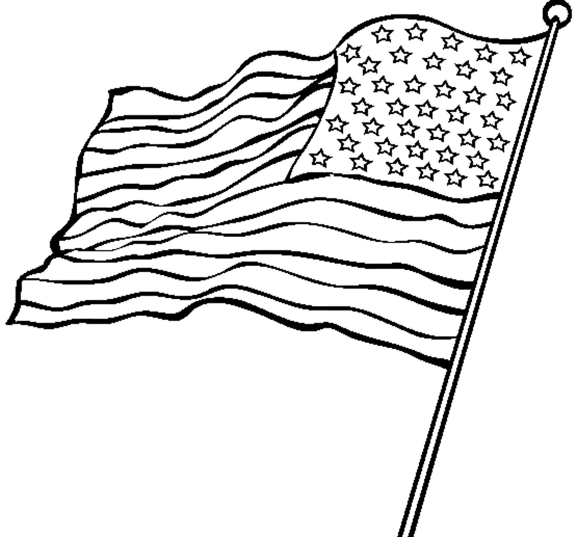 waving american flag coloring page - Printable Kids ...