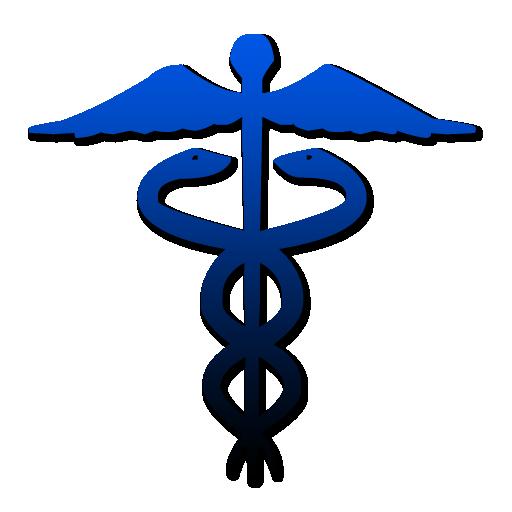 Caduceus symbol blue gradient clipart image - ipharmd.