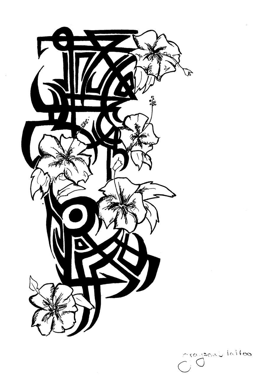 Free Hawaiian Flower Drawing Download