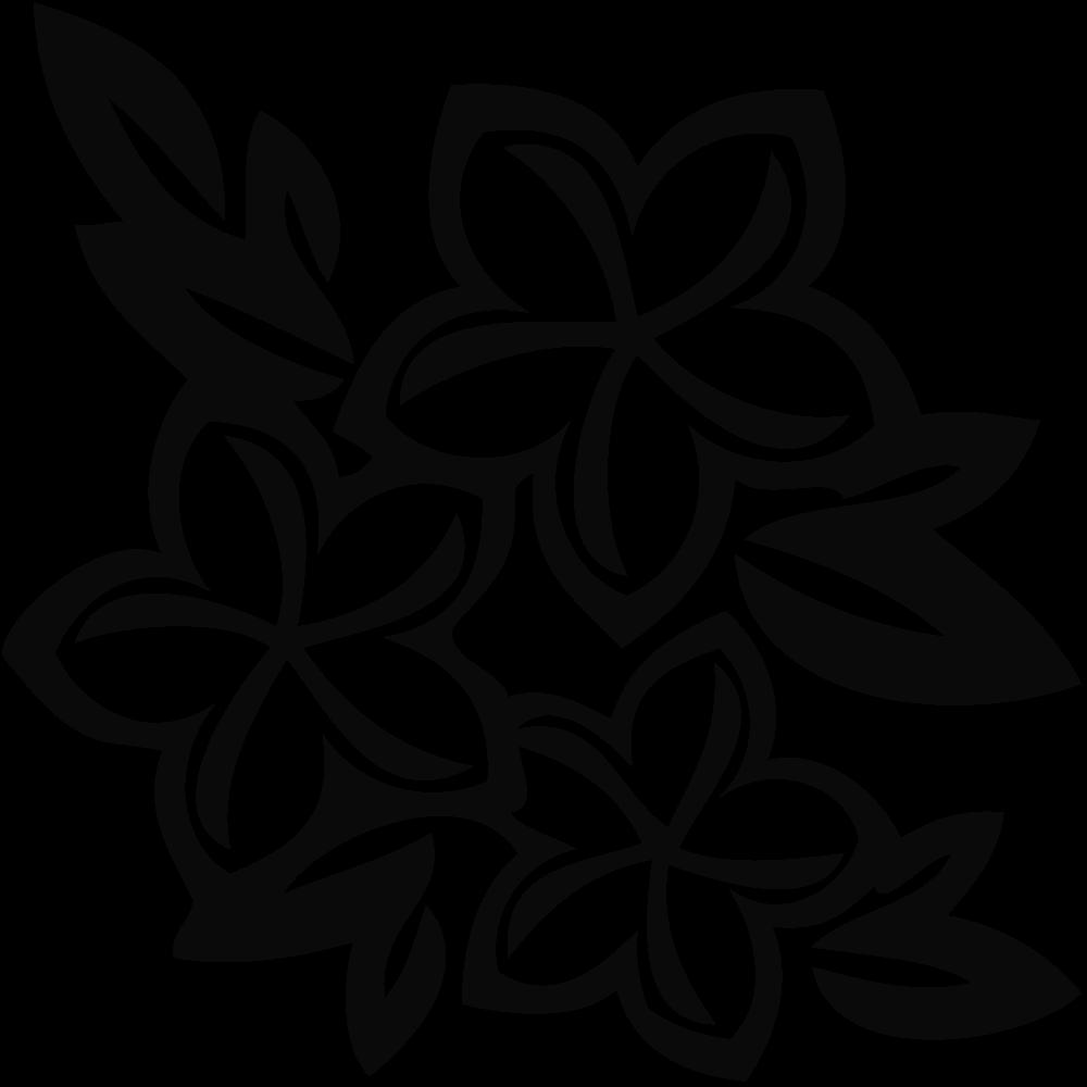 Free Hawaiian Flowers Silhouette Download Free Clip Art Free